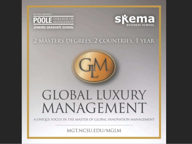 NC State Global Luxury Management Master's Degree Program